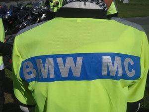 MC-väst, text BMW MC, nytt utförande