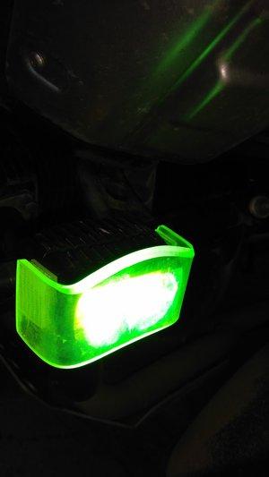 Positionsljus inkl gult säkerhetsglas