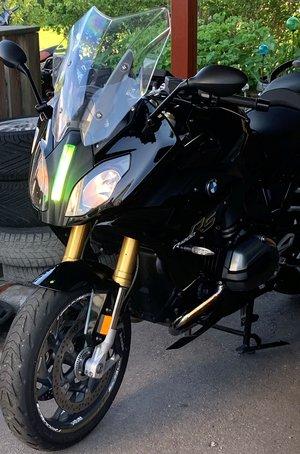BMW R 1200RS gult glas för ledlampor
